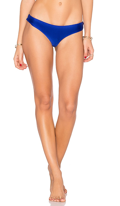 Luli Fama Buns Out Bikini Bottom Electric Blue in Blue