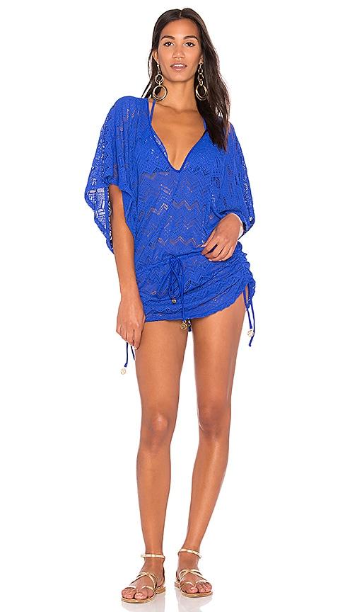 Luli Fama Cabana Dress in Blue