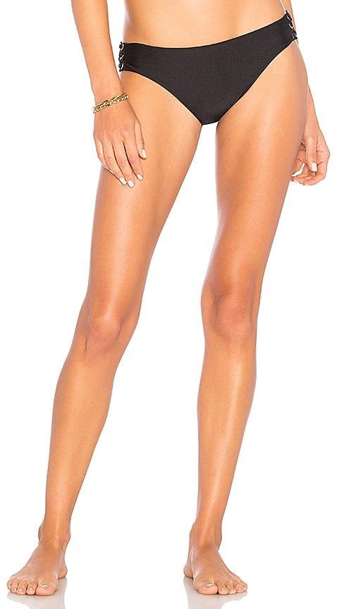 Luli Fama Lace Up Bikini Bottom in Black