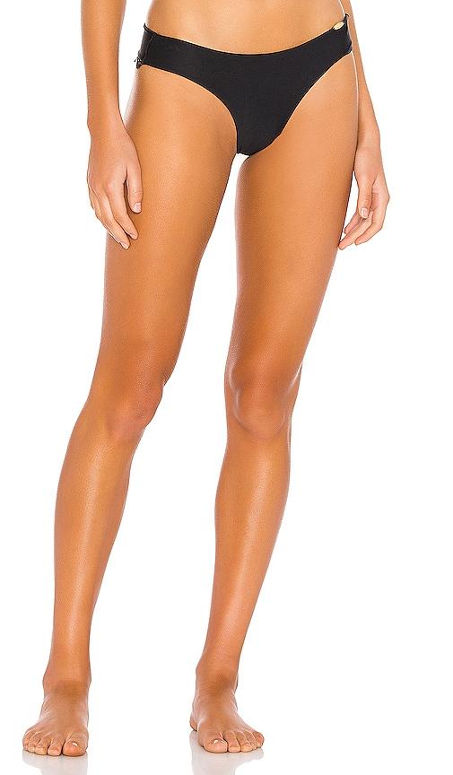 Lace Trim Wavy Ruched Bikini Bottom