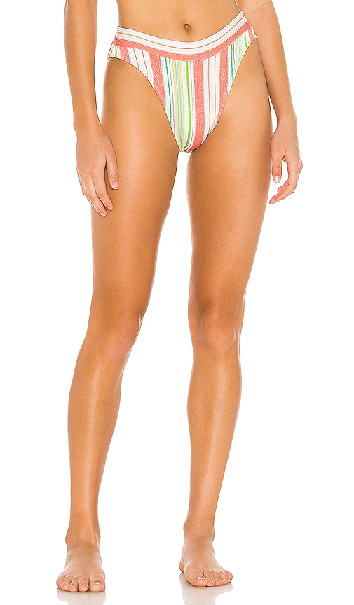 High Leg Banded Bikini Bottom