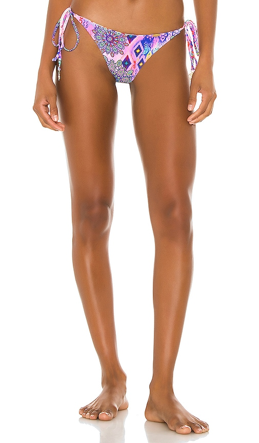 Pink Lagoon Reversible Ruched Back Tie Side Bottom