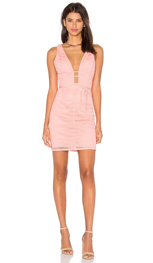 Lumier Give Me One Good Reason Dress in Peach