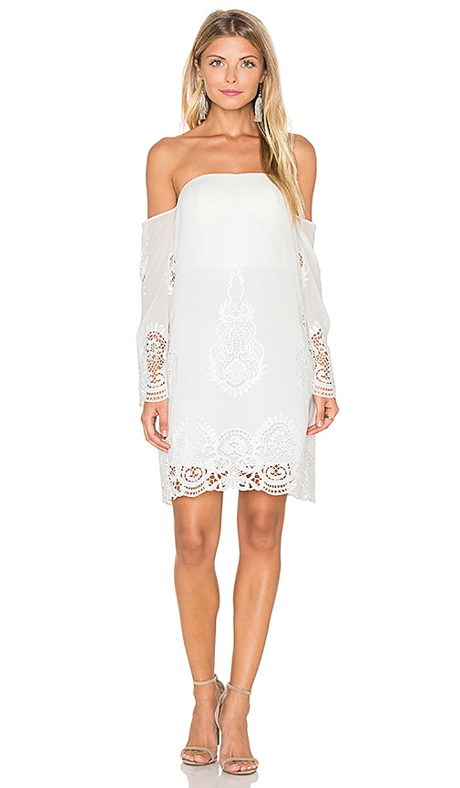 Lumier Secret Garden Off The Shoulder Dress in White