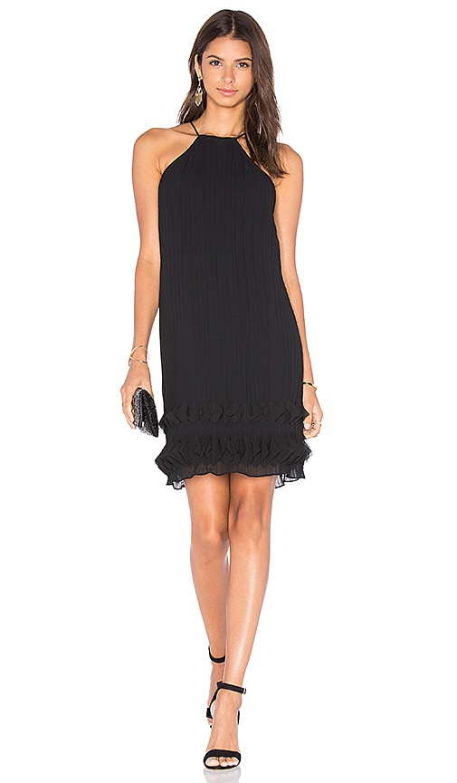 Lumier Step To It Halter Dress in Black