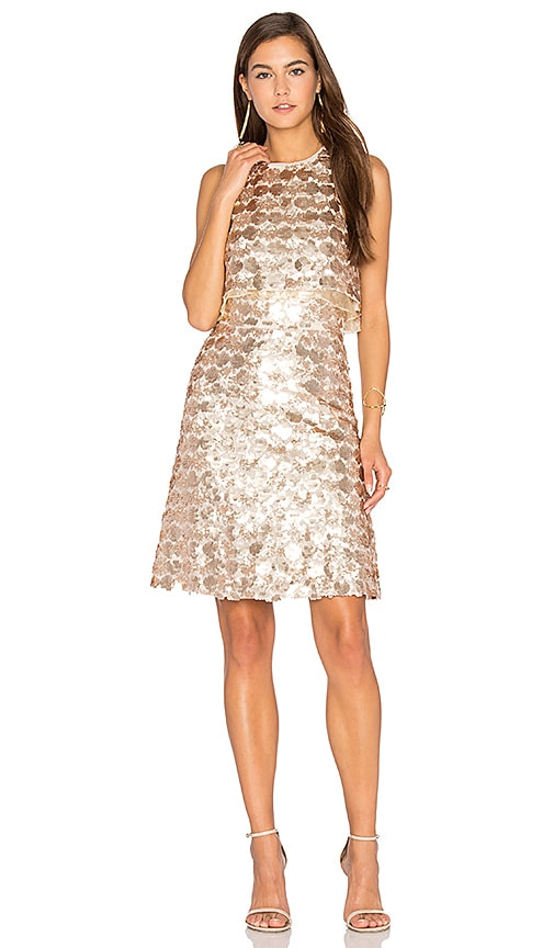 Lumier Light Up Dress in Beige