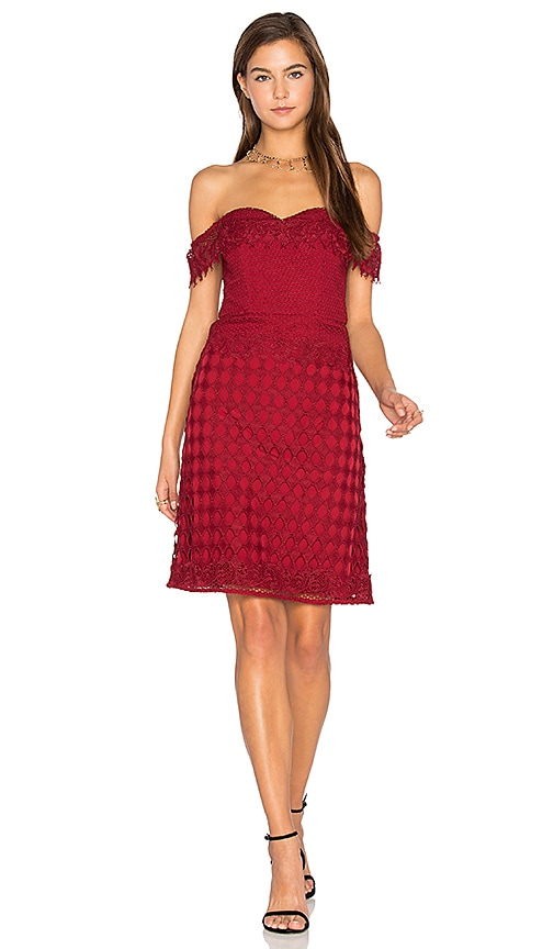 Lumier Losing My Edge Dress in Burgundy