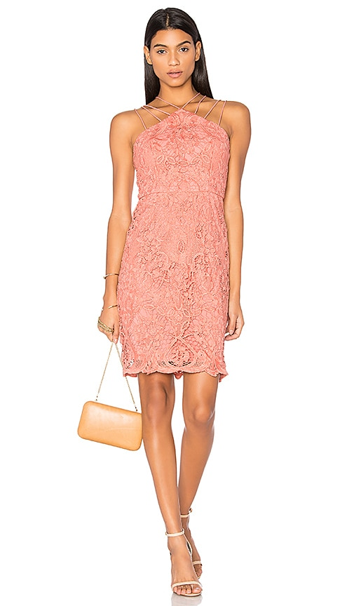 Lumier Dancing On My Own Mini Dress in Coral