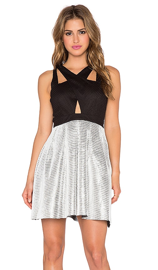 Lumier Editors Pick Me Fit & Flare Dress in Black & Silver