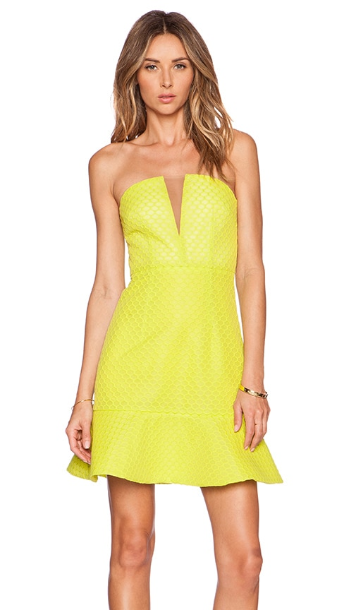 Lumier Visual Language Bustier Dress in Yellow