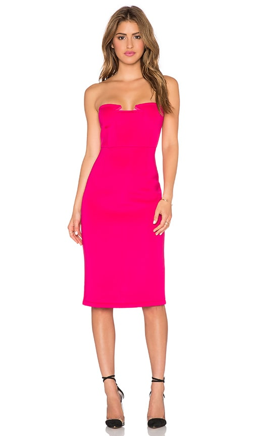 Lumier Night After Night Strapless Dress in Pink
