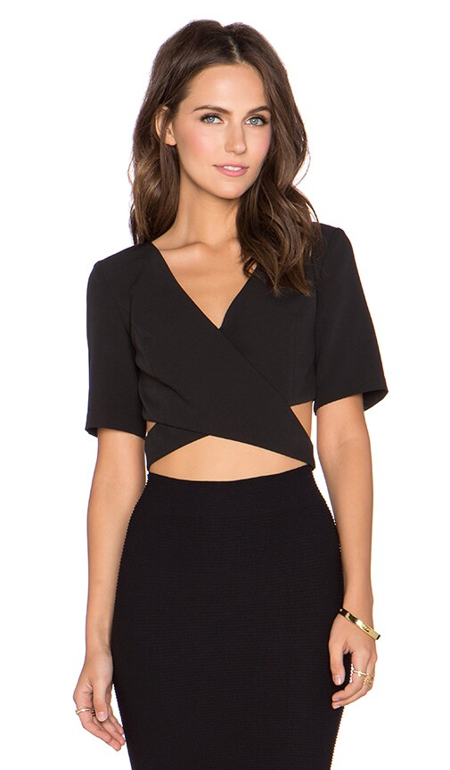 Strap Yourself In Wrap Crop Top