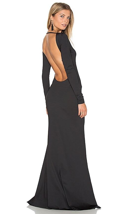 Lurelly Monaco Gown in Black   REVOLVE