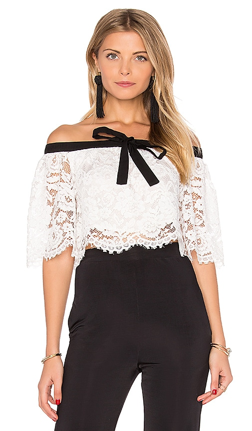 Haltered Lace Crop Top