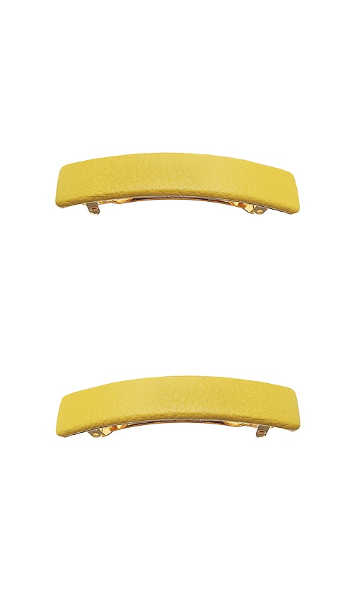 Genuine Leather Rectangle Barrette