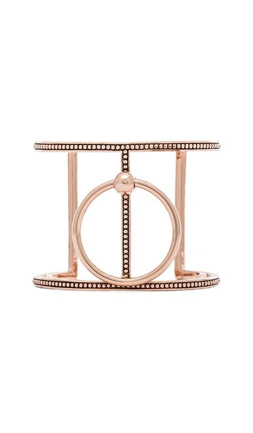Ring of Fire T-Bar Cuff In Rose Gold