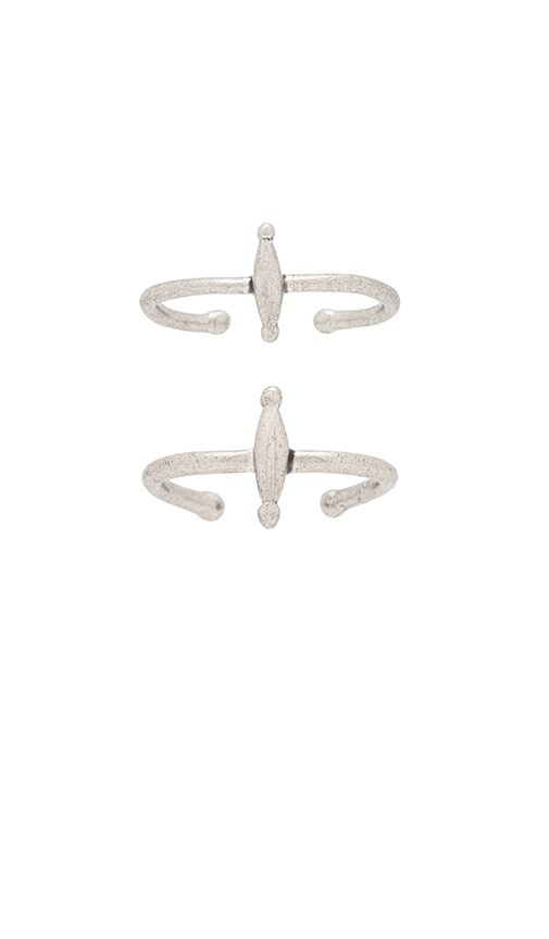 Luv AJ The Mini Spear Ring Set in Oxidized Sterling Silver