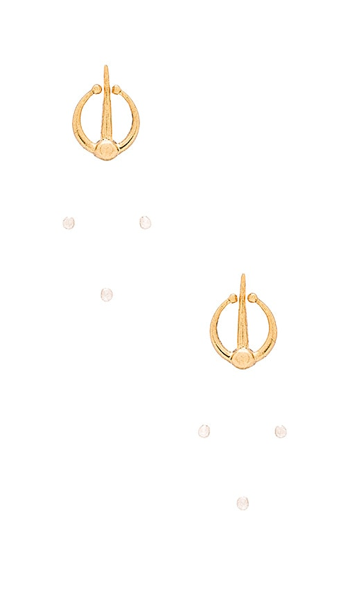 Luv AJ The Open Spear Flare Earring in Gold Plated & Sterling Silver