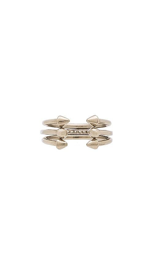 Luv AJ The Barbell Ring Set in Sterling Silver