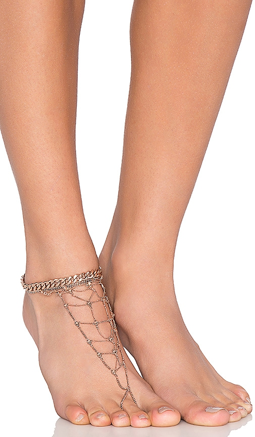 Luv AJ x REVOLVE Exclusive Anklet in Metallic Gold
