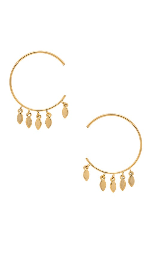 Marquise Swing Through Hoops Earring