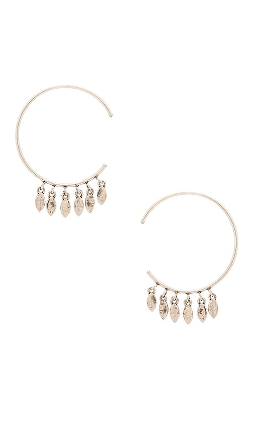 Marquise Swing Through Hoops Earrings