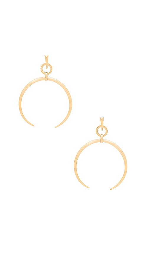 Luv AJ Oversized Crescent Hoop Earrings in Metallic Gold