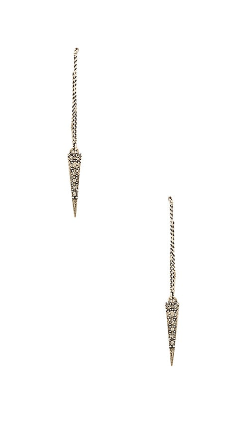 Pave Spike Thread Earrings