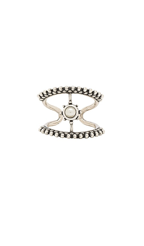 Luv AJ The Versailles T Bar Ring in Metallic Silver
