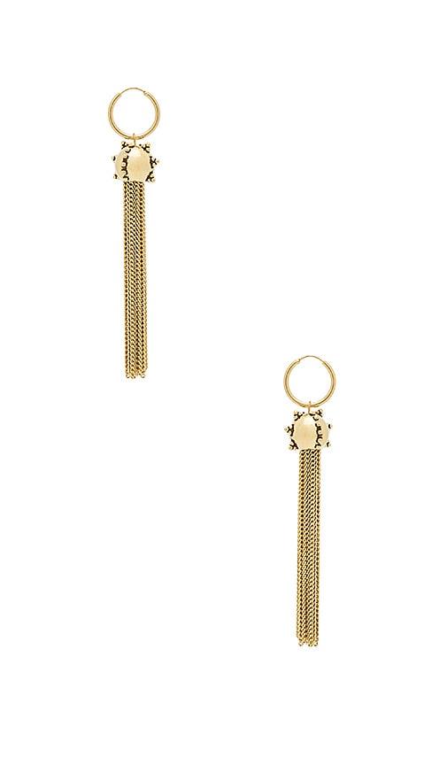 Luv AJ The Baroque Tassel Earrings in Metallic Gold