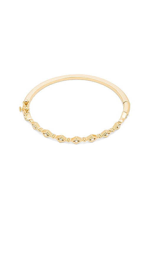 Luv AJ Evil Eye Eternity Bangle Bracelet in Metallic Gold