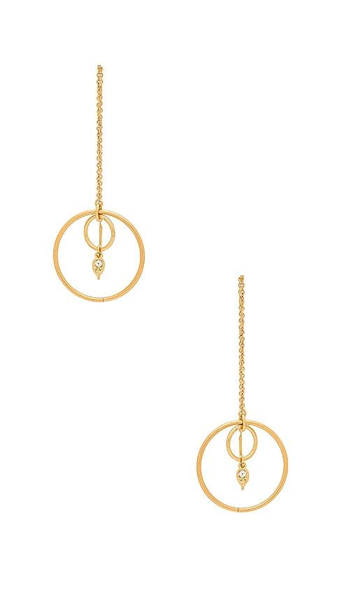 Luv AJ Eclipse Threader Earrings in Metallic Gold