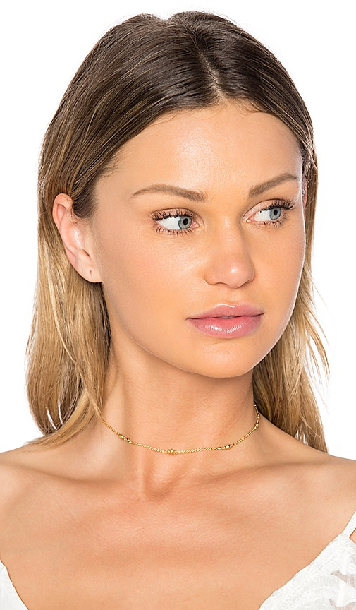 Luv AJ Revel Starburst Chain Choker in Metallic Gold