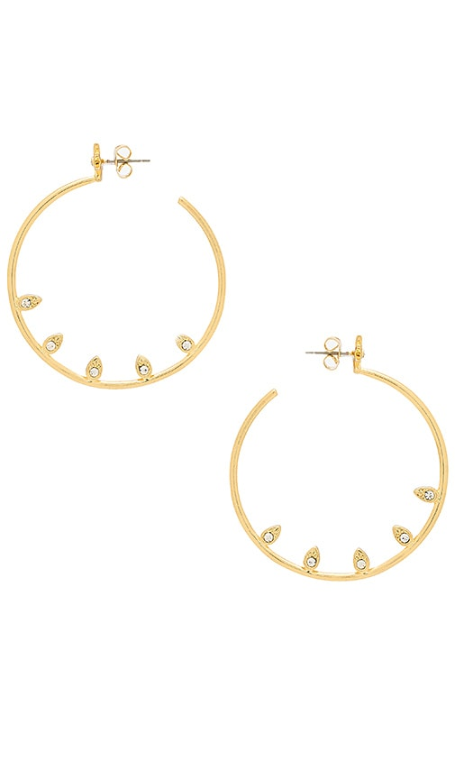 Luv AJ Posie Pave Statement Hoops in Metallic Gold