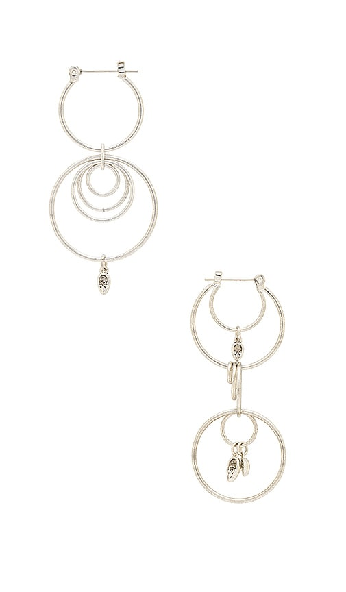 Luv AJ Eclipse Hoop Earrings in Metallic Silver