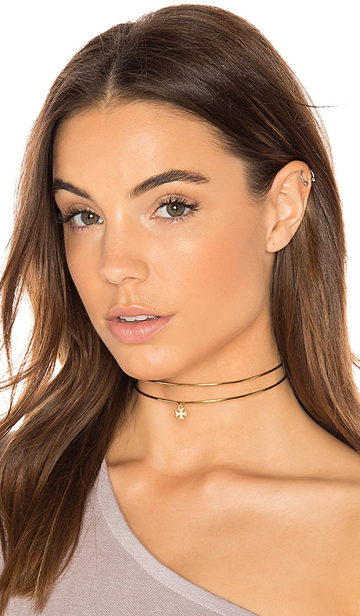 Luv AJ x SABO LUXE Boaz Double Band Choker in Metallic Gold