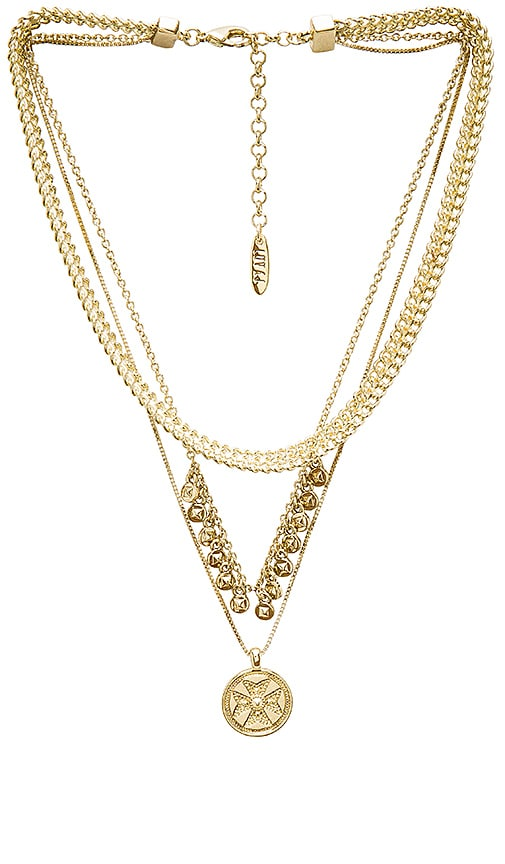Luv AJ x SABO LUXE Noa Coin Charm Necklace in Metallic Gold
