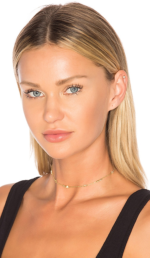 Luv AJ The Scattered Gem Choker in Metallic Gold