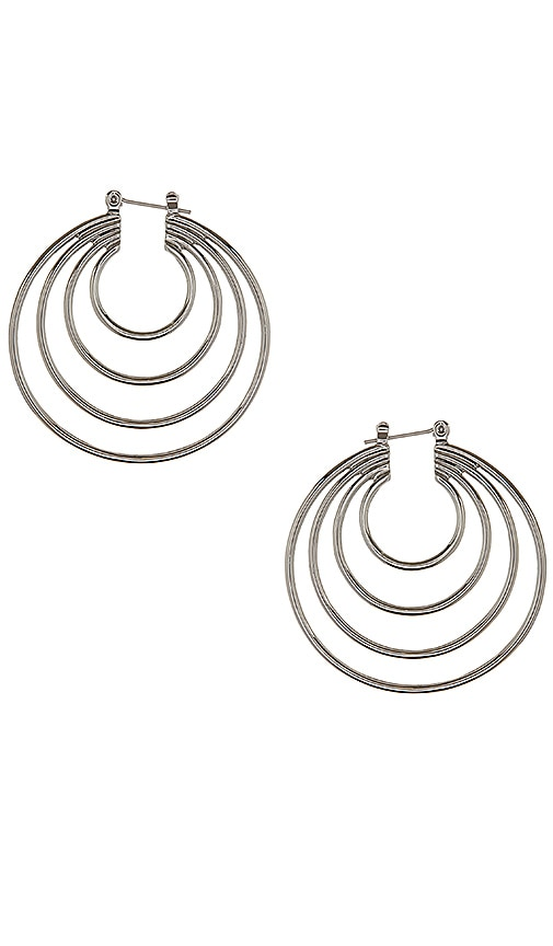 Luv AJ The Multi Hoop Earrings in Metallic Silver