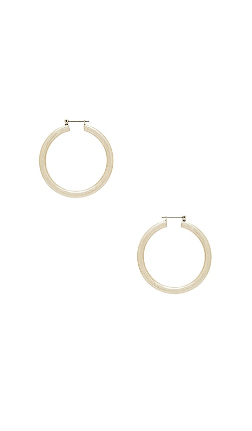Luv AJ The Amalfi Tube Hoops in Metallic Silver