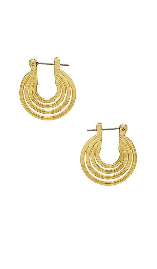Luv AJ The Multi Hoop Statement Earrings in Metallic Gold