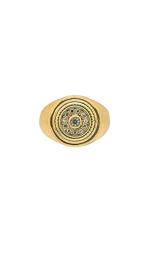 THE COSMIC DISC PINKY RING