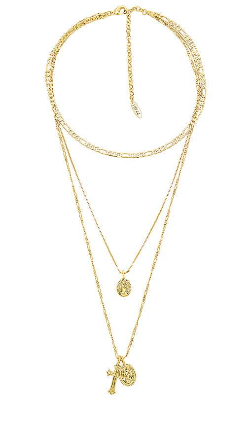 Luv AJ x SABO LUXE The Isidore Cross Charm Necklace in Gold