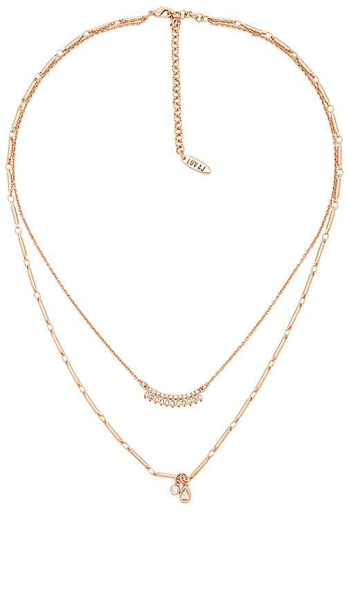 Luv AJ The Cosmic Flare Charm Necklace in Metallic Copper