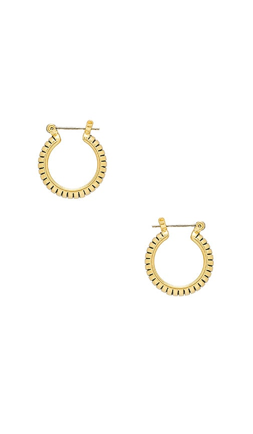 The Baby Snake Chain Hoops in Metallic Gold Luv AJ 29hAgQMP