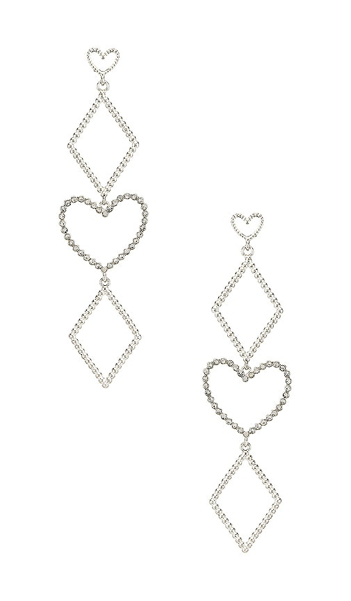 The Dotted Heart Statement Earrings
