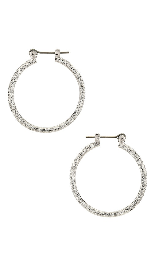 The Mini Triple Pave Hoop Earrings