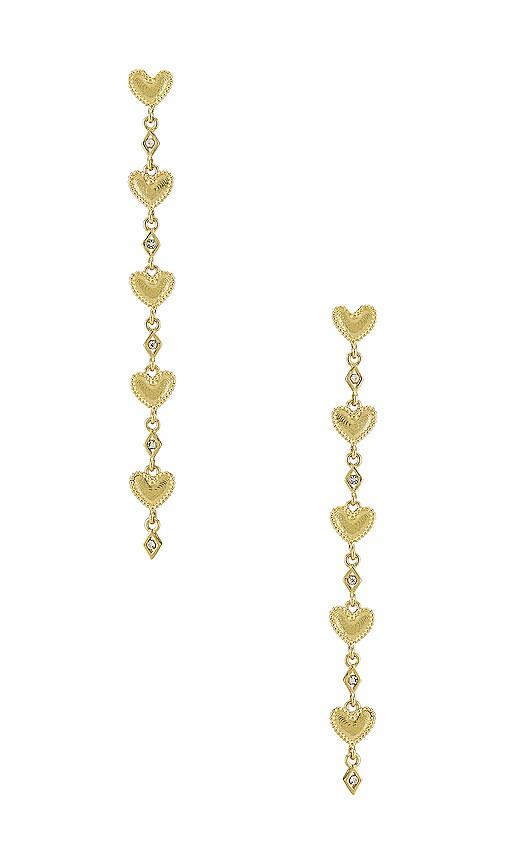 The Dotted Heart Drop Stud Earrings