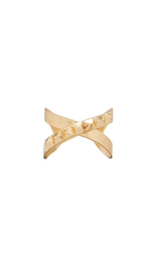 The Criss Cross Punk Stud Ring