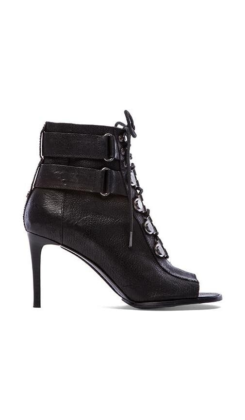 Cara Lace Up Open Toe Booties